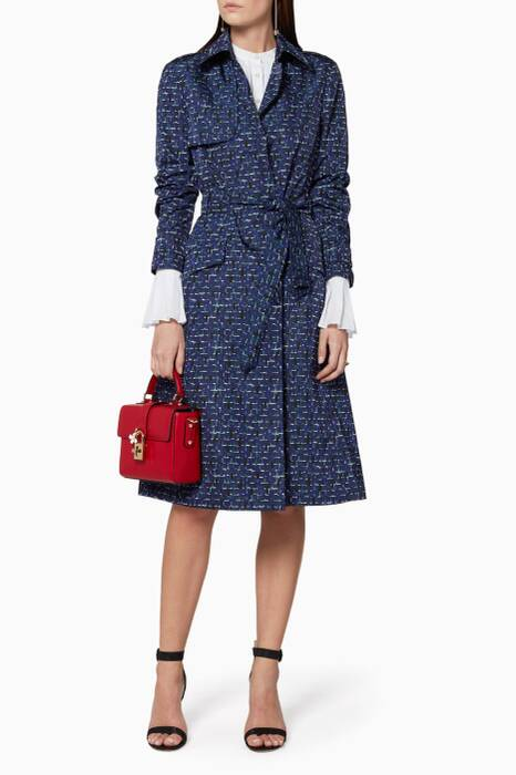 Mist Pacific Violet Printed Trench Coat