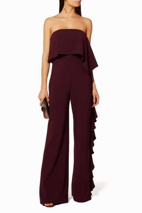 Red Kendall Ruffle Jumpsuit