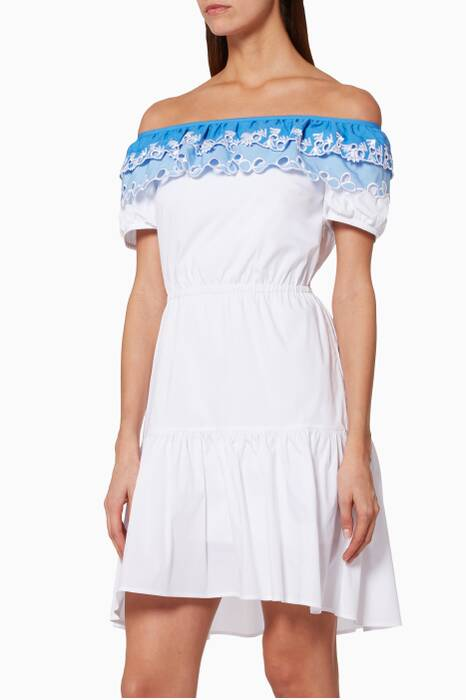 White Cotton Embroidered Pallas Dress