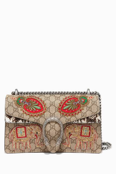 Multi-Coloured Dionysus Embroidered Shoulder Bag