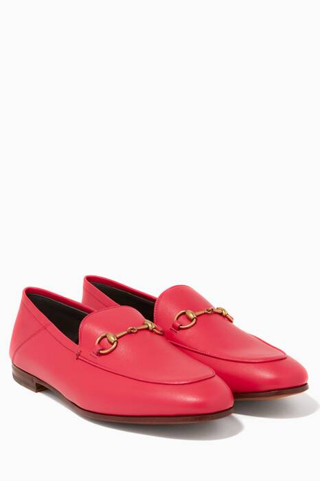 Pink Brixton Leather Loafers