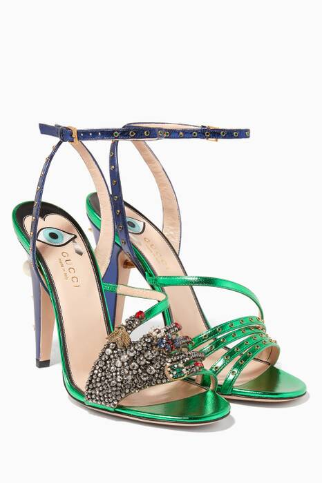 Green Sand Pelle S Cuoio Sandals