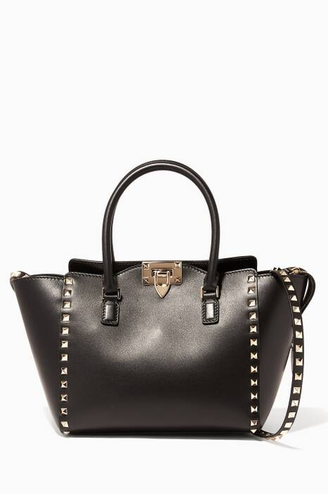 Black Rockstud Small Tote Bag