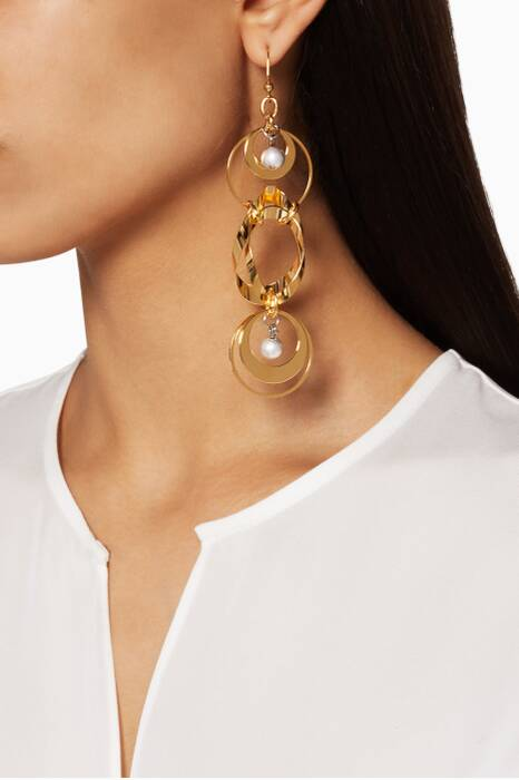 Gold Asymmetric Twombly Earrings