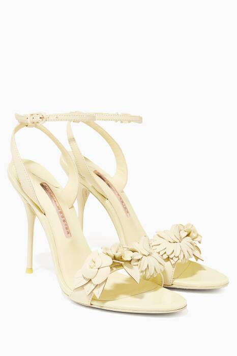 Pale-Yellow Lilico Leather Sandals