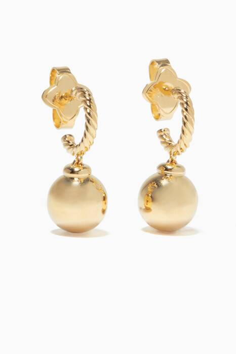 Gold Solari Hoop Earrings