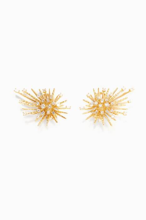 Gold Supernova Climber Earring