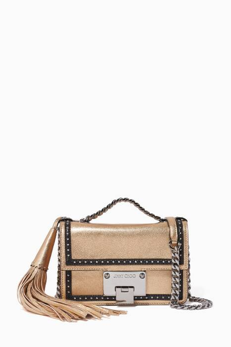 Shop Luxury Jimmy Choo Antique Gold Rebel Soft Mini Crossbody Bag