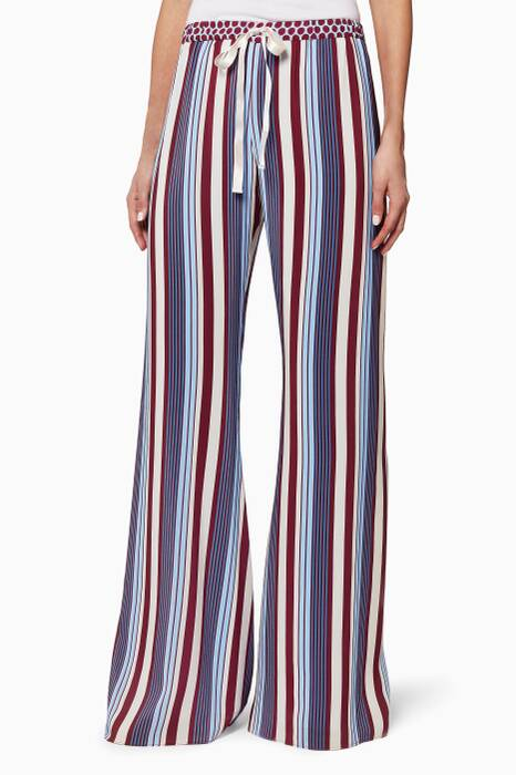 Striped Seraphine Wide-Leg Pants