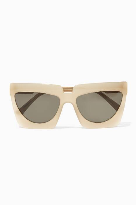 Pastel Brown Adele Square-Frame Sunglasses