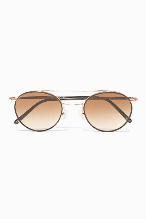 Humphrey Round-Frame Metal Sunglasses