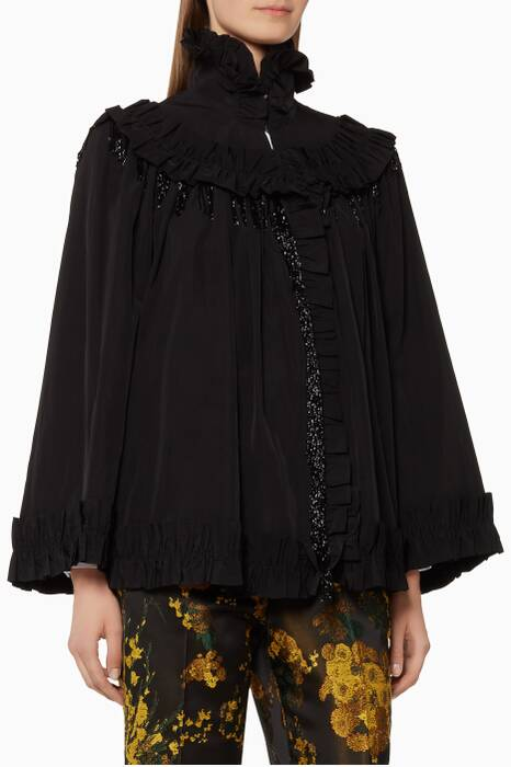 Black Vidal Embroidered Jacket