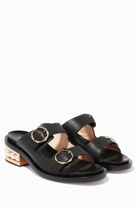 Black Casati Pearl Sandals