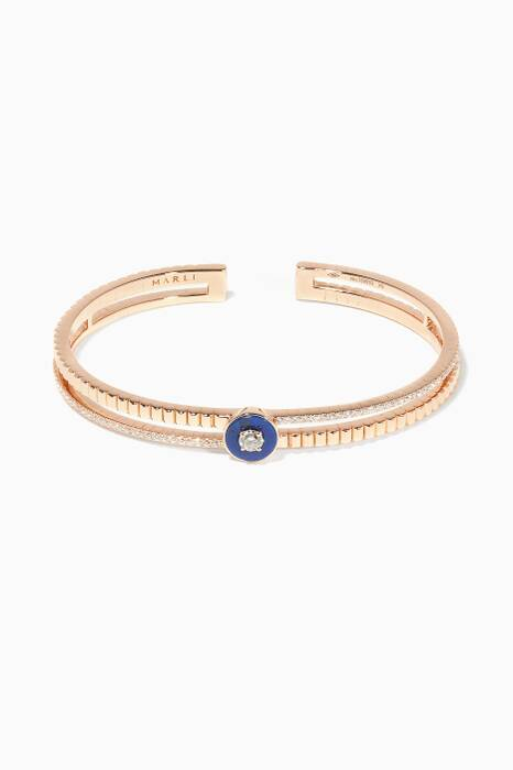 Rose-Gold, Diamond And Blue Lapis Coco Bangle