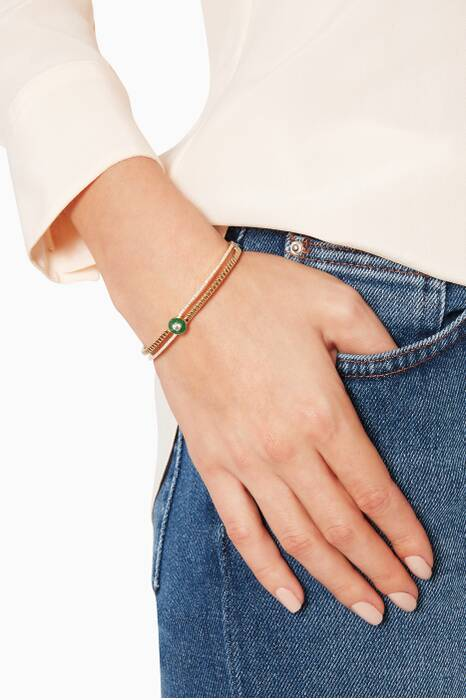 Yellow-Gold, Diamond And Green Lapis Coco Bangle