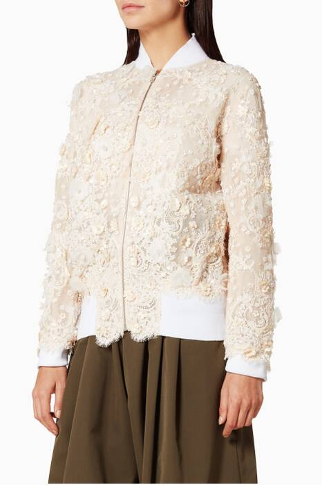 Lace Embroidered Bonber Jacket