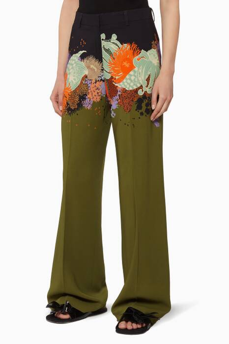 Multi-Coloured Poiret Pants