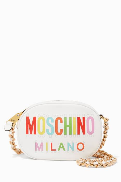 White Tab Logo Cross-Body Bag