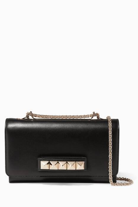 Black Va-Va-Voom Chain Shoulder Bag