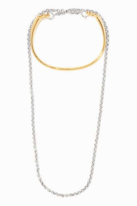 Silver & Gold-Plated Briska Necklace