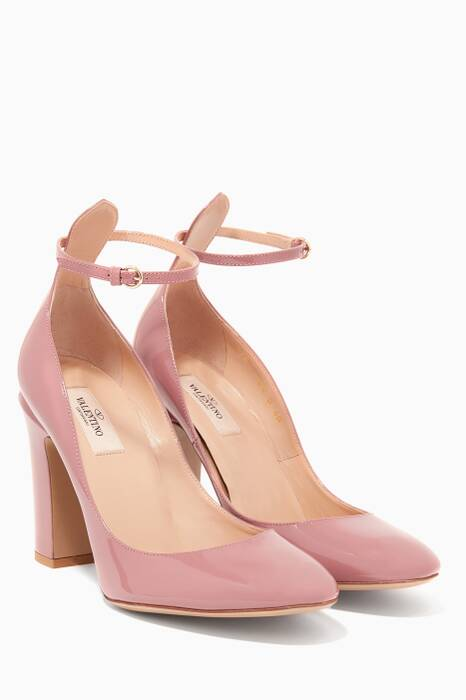 Light-Pink Tan-Go Patent Sandals