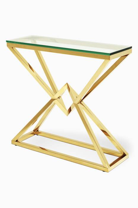 Gold Connor Small Console Table
