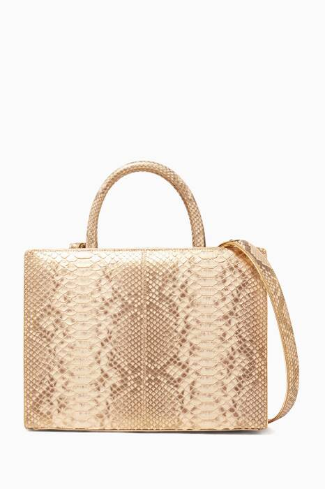 Gold Python Large Sweet Box Bag
