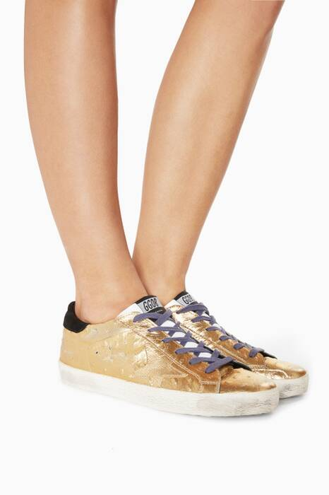 Metallic-Gold Superstar Sneakers