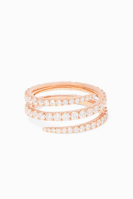 White Coil Rose-Gold Ring