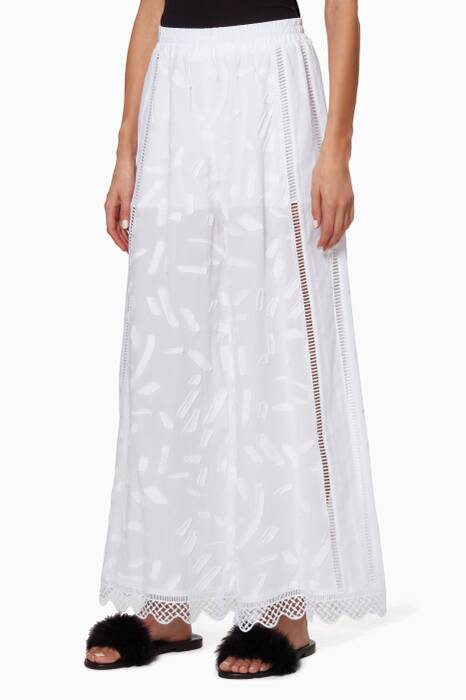 White Filippa Pants