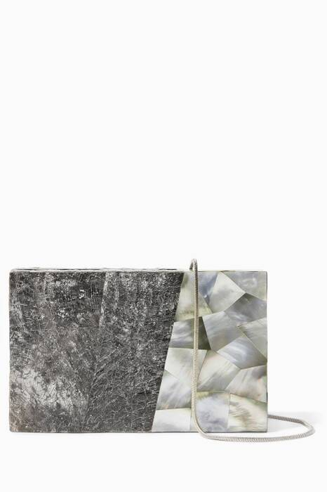 Grey Tilda Shell Evening Clutch