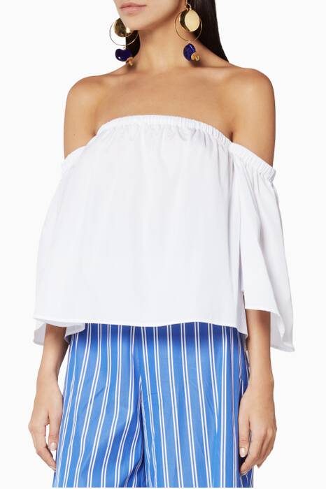 White Off-The-Shoulder Peasant Top