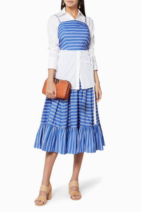 Blue Ruffled Skirt