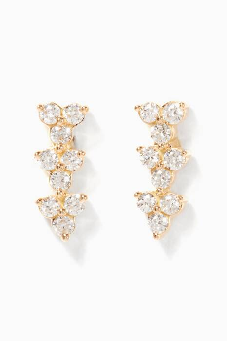 Yellow-Gold Diamond Reverie Earrings