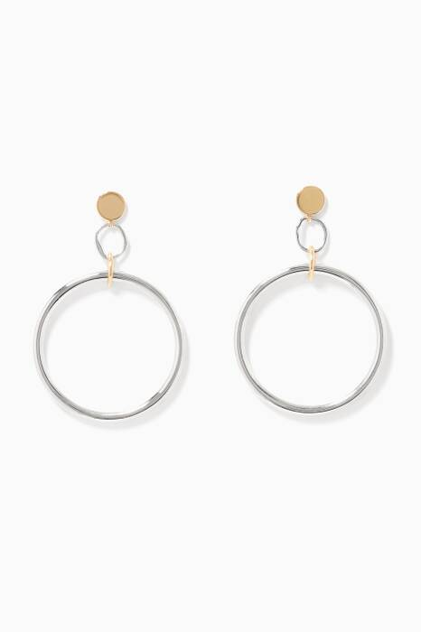 Gold & Silver Isamu Earrings