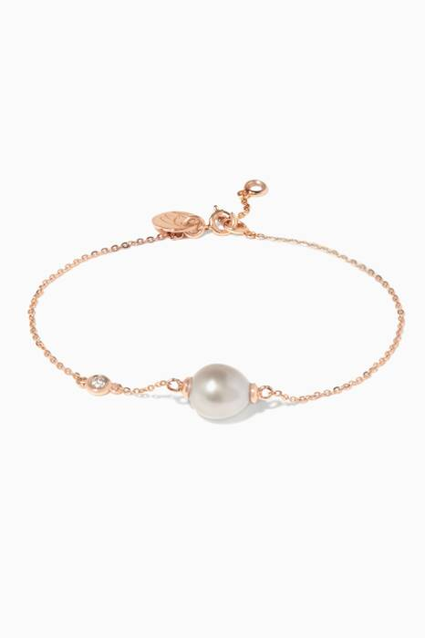 Rose-Gold My First Pearl Bracelet