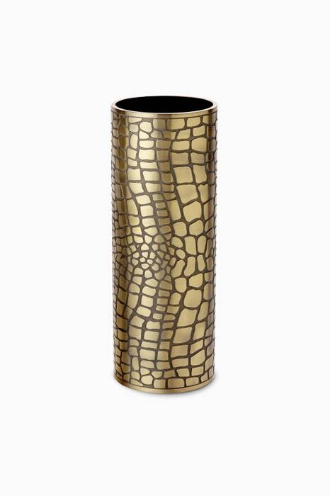 Brass Large Crocodile Vase