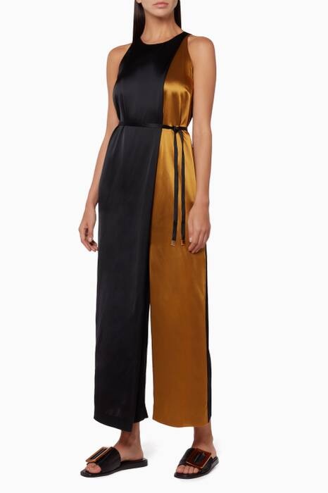 Gold & Navy Folded Jumpsuit