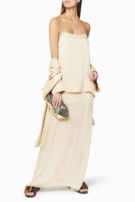 Ivory Side-Slit Cami Dress
