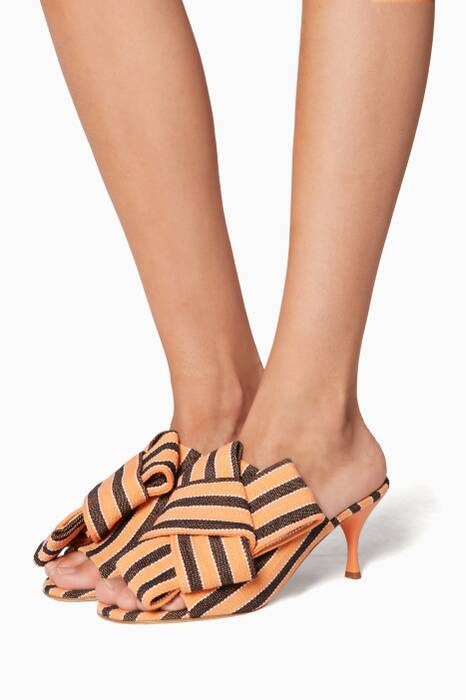 Orange Striped Indomabile Mules