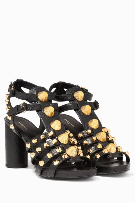 Black Arena Giant Studded Sandals
