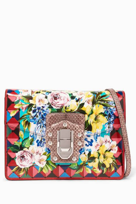 Floral Printed Leather & Ayers Lucia Shoulder Bag