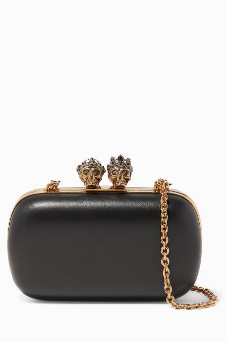 Black King & Queen Embellished Clutch