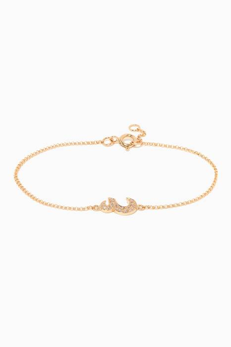 Yellow-Gold Letter AIN Bracelet