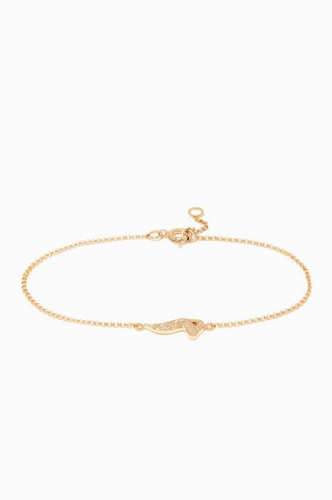 Yellow-Gold Letter M Bracelet