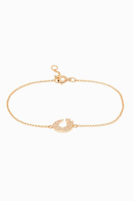 Yellow-Gold Letter N Bracelet