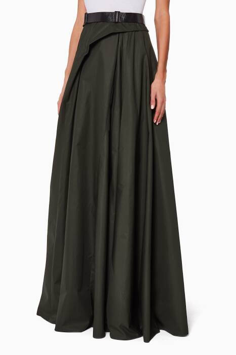 Dark Green Taffeta Skirt