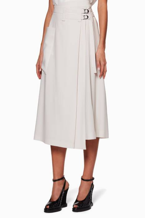 Ivory Belted Skirt