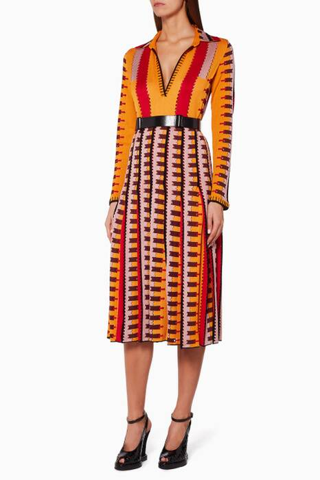 Orange Geometric Dress