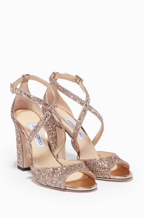 Gold Carrie Leather Sandals